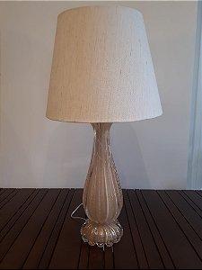 Abajour Cristal Di Murano nude /our 16x47cm