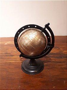 Globo metal Mundi pto/dour 15x25cm