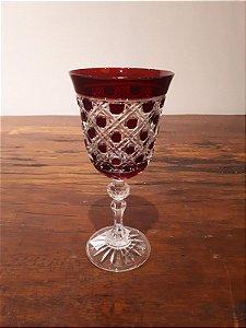 Taça Cristal Aguá rubi 9x17cm
