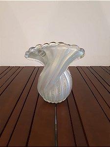Vaso Cristal Di Murano M az/our 24x27cm