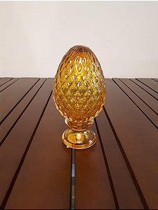 Pinha Cristal Di Murano ambar 8x19cm