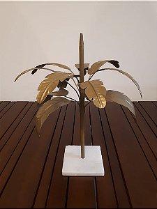 Arvore Decorativa metal dour 13x13x40cm