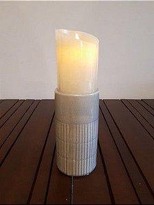 Castiçal Cerâmica Kiran P vde 10x10cm