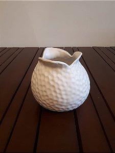 Vaso Cerâmica Pontas bco 13x15X11cm