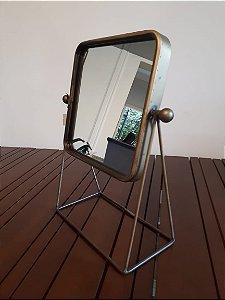 Espelho ferro/vidro Nobel dour 15x20cm