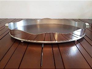 Bandeja Prata Oval Galeria Lisa 55x34x7cm