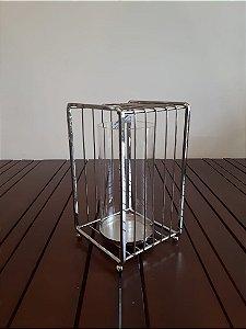 Castiçal metal Vazado pra 11x9x15cm