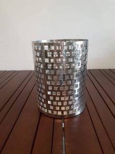 Lanterna Metal redonda pta 27x20cm