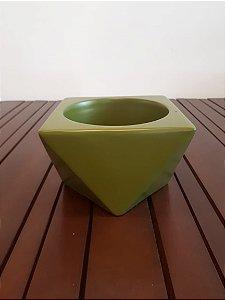 Cachepot Cerâmica Triangulado M vde 10,5x14,5cm