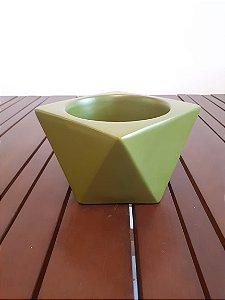 Cachepot Cerâmica Triangulado G vde 12x17,5cm