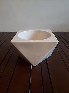 Cachepot Cerâmica Triangulado GG off 15x22cm