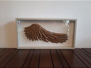 Quadro Madeira Asa bronze 52x27x4cm
