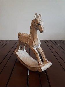 Escultura Madeira Cavalo Kentucky M 25x28cm