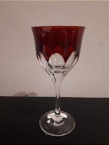 Taça Cristal Vinho Branco Overlay lap 045 verm 200ml