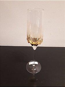Taça vidro Champanhe Craquelada ambar 230ml