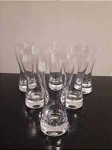 Jogo c/6 Copo Cristal cerveja Catar 200ml