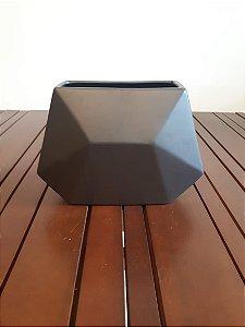 Vaso Cerâmica baixo Geométrico graf 18x25X13cm