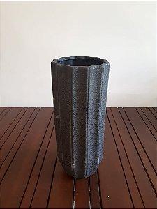 Vaso Cerâmica Ondas alto M graf 43x17cm