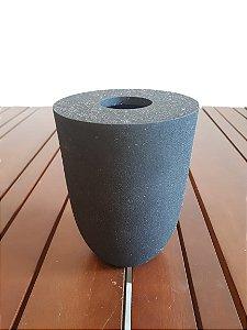 Vaso Alumínio preto 14x11cm