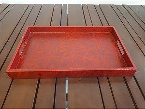 Bandeja para Lavabo ou copo recouro vermelho  5x27x41cm
