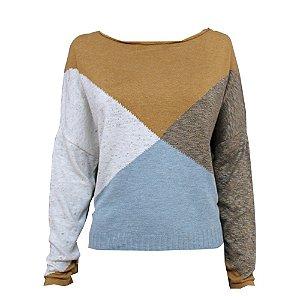 Blusa Tricot Geométrico