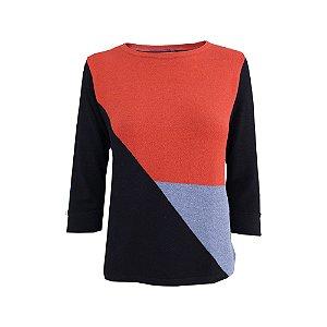 Suéter Recortes Tricot