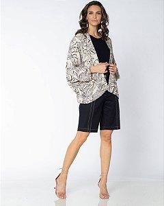 Kimono Estampa Folhagem