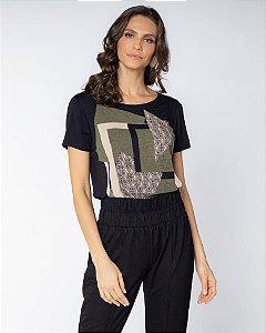 Camiseta Estampa Geometrica
