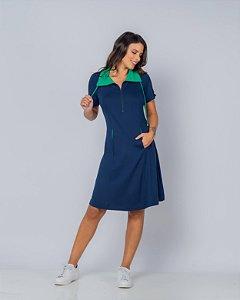 Vestido Decote Zíper