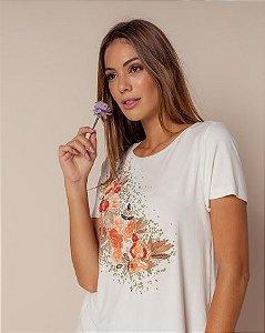 Camiseta Bordada Flores