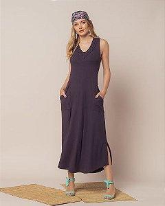 Vestido Decote Macrame