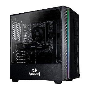 PC Gamer Redragon Berial AMD Ryzen 5 2400, RAM 8GB, SSD 256GB, GEFORCE GTX 1050TI 4GB