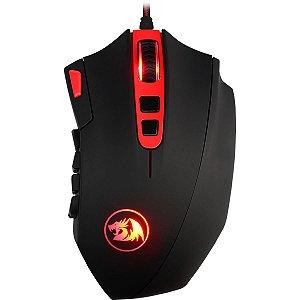 Mouse Gamer Redragon Perdition 3 Preto e Vermelho RGB 18 Botões Programáveis