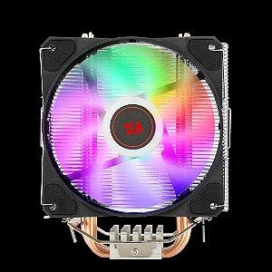 Aircooler Redragon Tyr Preto Iluminação Rainbow com Fan de 120mm CC-9104