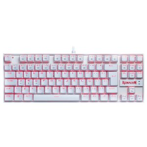 Teclado Redragon Kumara Lunar K552W Single Color White