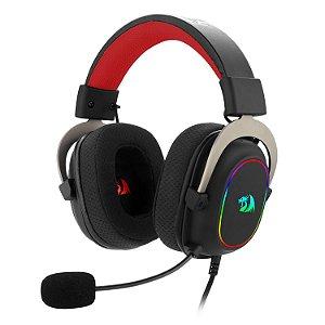 New Headset Gamer Redragon Zeus RGB USB 7.1 Surround Sound Virtual H510-RGB