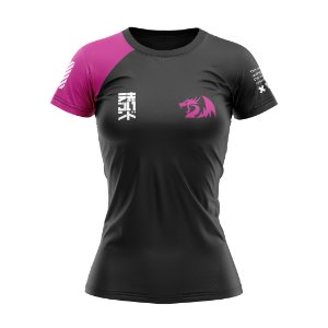 Linha Redragon Wear Outono 2020 - Camisa BabyLook Rosa