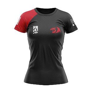 Linha Redragon Wear Outono 2020 - Camisa BabyLook Vermelha