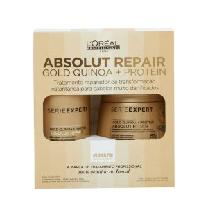L'Oréal Pro Absolut Repair Gold Quinoa Kit (Shampoo 300ml + Máscara 250g)