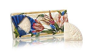 Fiorentino Sabonete em Barra Artesanal - A Ventaglio Floral 3x100g