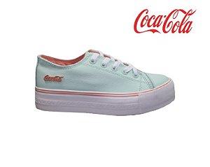 Tênis Feminino Coca Cola CC1775 - Verde Branco