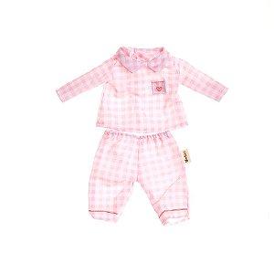 Roupa de boneca Metoo com cabide - Pijama Rosa