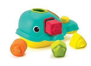 Brinquedo Interativo de  Encaixe Infantino Baleia