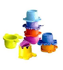Brinquedo de Banho de Empilhar Interativo Infantino