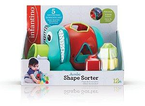 Brinquedo Interativo de Encaixe Infantino Elefante