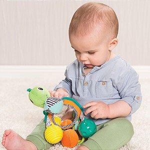 Móbile com Espelho Infantino Tartaruga Verde
