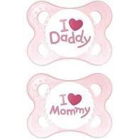CHUPETA MOM & DAD (GIRLS 0-6 MESES)