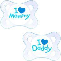 CHUPETA MOM & DAD (BOYS 0-6 MESES)