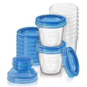 Copos armazenamento leite Avent - Kit 10 Unidades