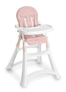 Cadeira de alimentação alta premium galzerano - Rosa